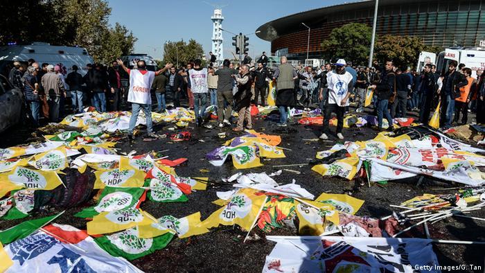 На месте взрывов в Анкаре