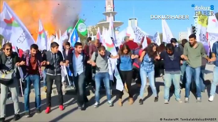 Türkei Anschlag in Ankara - Moment der Explosion
