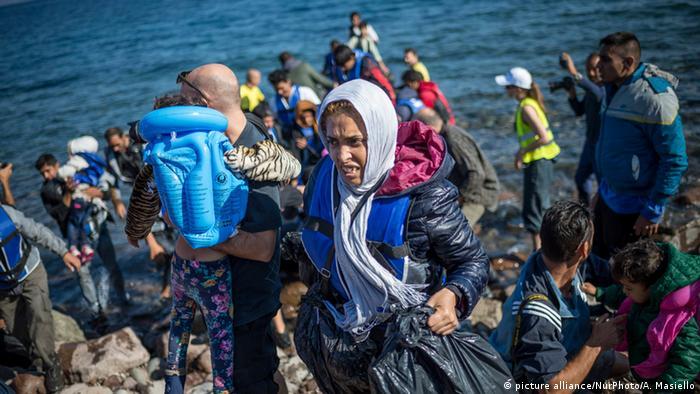 Griechenland Lesbos Flüchtlinge (picture alliance/NurPhoto/A. Masiello)