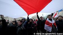 Weißrussland Demonstration der Opposition in Minsk