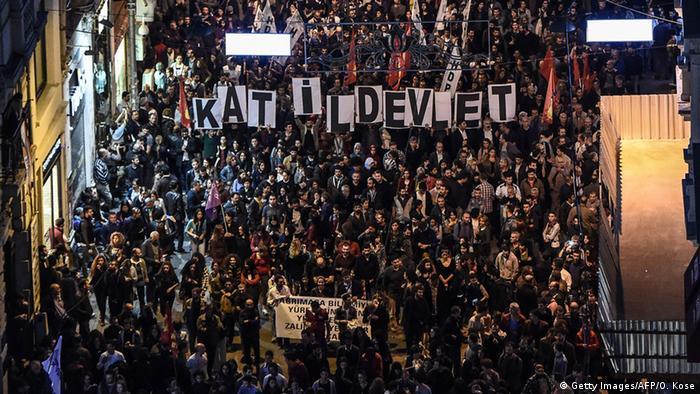 Türkei Ankara Proteste nach Anschlägen