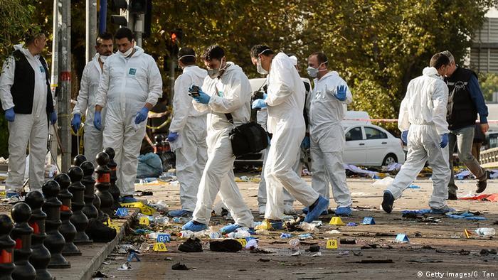 Türkei Ankara Selbstmordanschlag Tatort