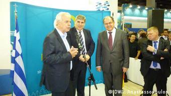 Υποδοχή του γερμανού υπουργού Διατροφής και Αγροτικών Προϊόντων Κρίστιαν Σμιτ από τον Έλληνα ομόλογό του