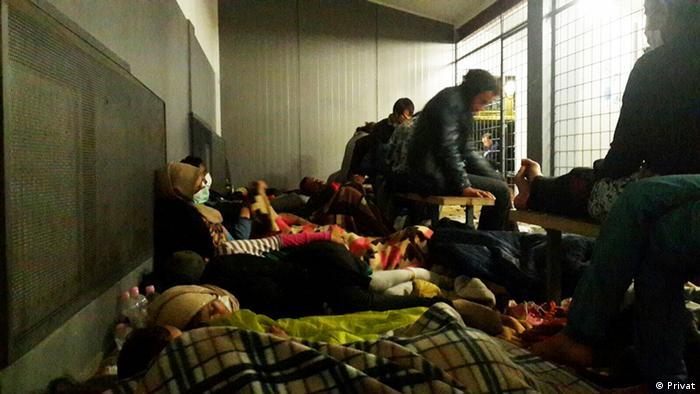 Ungarn: Flüchtlinge in einem Gefängnis (Foto: Nesrin/privat)