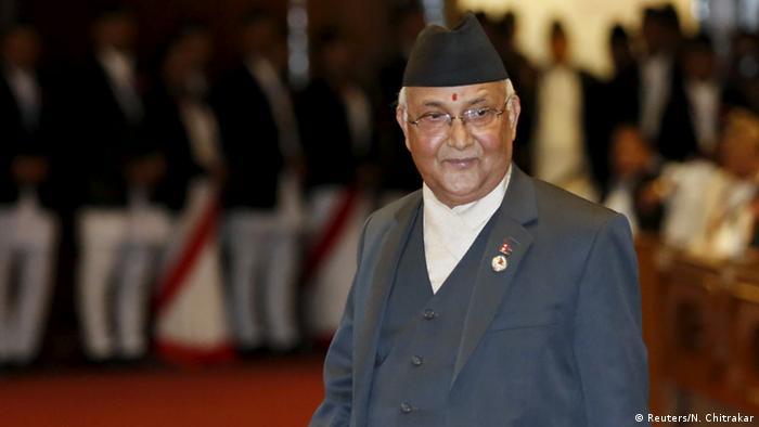 Nepali Prime Minister K P Sharma Oli