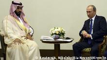 Russland Sotschi Putin trifft Saudischen Verteidigungsminister Mohammed bin Salman