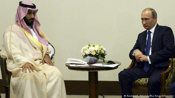 Vladimir Putin and Mohammed bin Salman