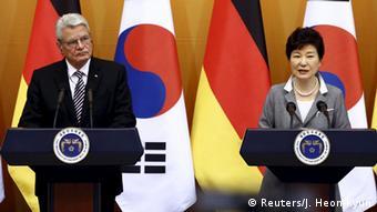 Südkorea Joachim Gauck und Park Geun-Hye