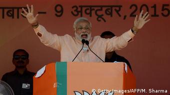 Indien Wahlen Rede Narendra Modi