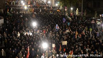 Dresden Pegida Demonstration Menschenmenge