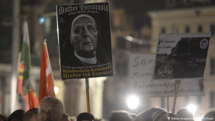 Dresden Pegida Demonstration Mutter Terroresia