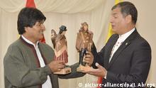 Rafael Correa und Evo Morales