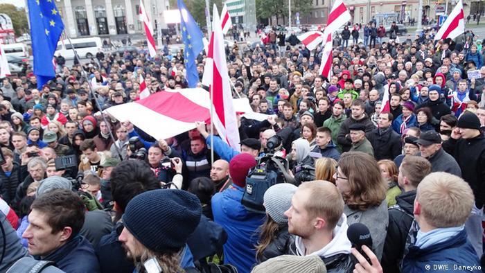 Акция протеста в Минске после выборов президента в октябре 2015 года. Фото из архива
