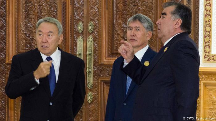 Нурсултан Назарбаев, Алмазбек Атамбаев и Эмомали Рахмон