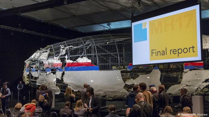 MH17 wreck after reconstruction in the Netherlands