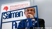 October 13, 2015 Author Salman Rushdie speaks during the opening news conference of the Frankfurt book fair, Germany October 13, 2015. The world's largest bookfair with its focal theme on Indonesian literature will run from October 14 until October 18. REUTERS/Ralph Orlowski
