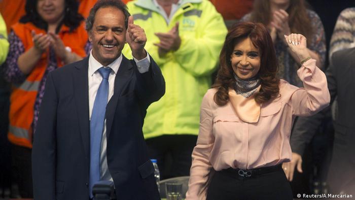 Daniel Scioli, Cristina Fernandez de Kirchner