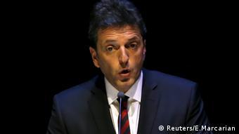 Sergio Massa, candidato en la primera vuelta del peronismo disidente.