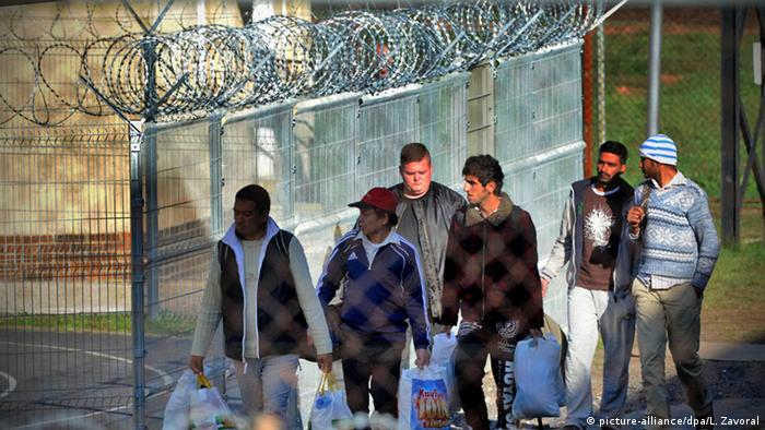 Europa Tschechien Drahonice Migranten Flüchtlinge Internierung
