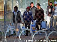 Мигранты в лагере для беженцев в Чехии