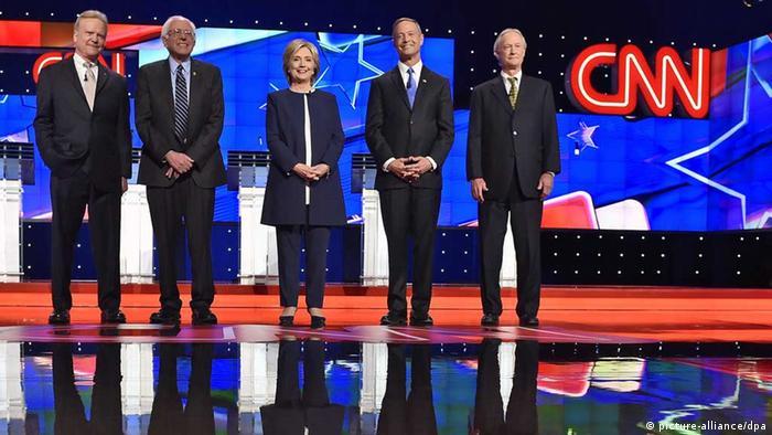 TV-Debatte der Kandidaten der Demokraten