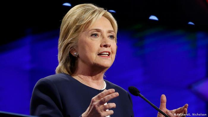 USA Präsidentenwahl TV-Debatte der Kandidaten der Demokraten Hillary Clinton