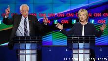 USA Wahlkampf Demokraten Sanders Clinton