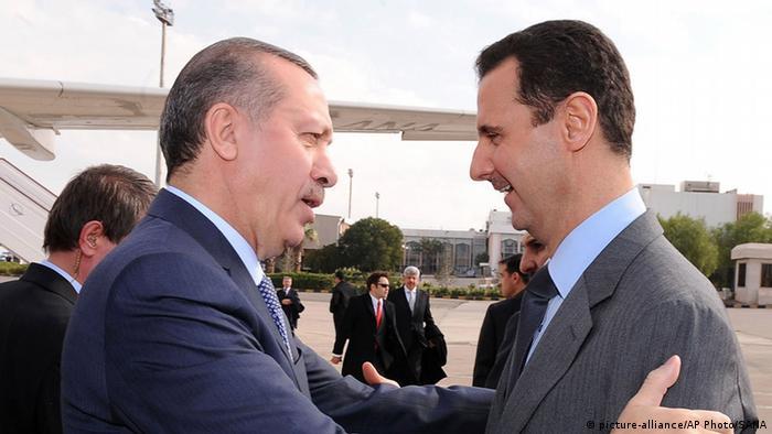 Syrischer Präsident Abahar Assad mit türkischem Premier Recep Erdogan