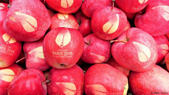 COP21 apples (Photo: DW/Hannah Fuchs)