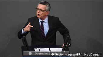 Deutschland Bundestag Thomas de Maiziere