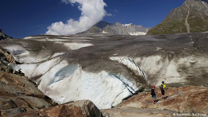 One of Europe's biggest glaciers, the Great Aletsch