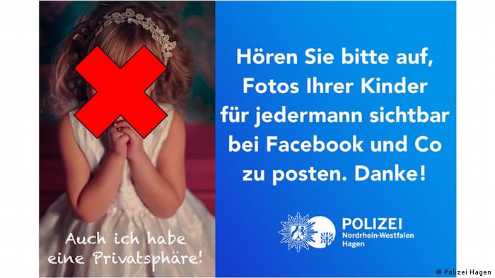 Hagen police say stop posting photos of your children to Facebook