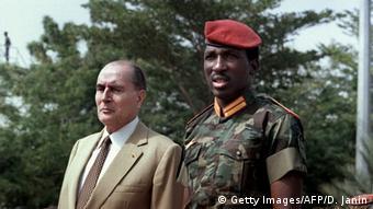 Thomas Sankara et François Mitterand en Novembre 1986