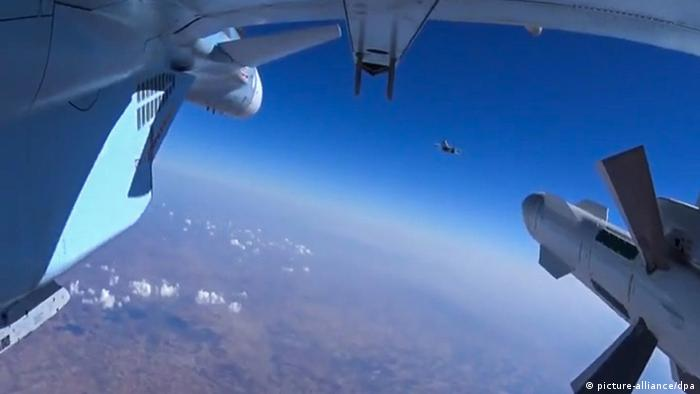 Russian aircraft on a sortie to carry out targeted airstrikes on ISIS
