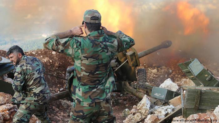Огневая позиция артиллеристов сирийской правительсвтенной армии (фото из архива)