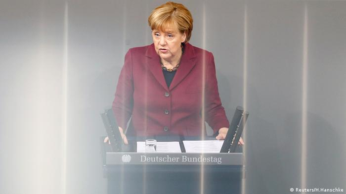 Angela Merkel Bundestag Berlin