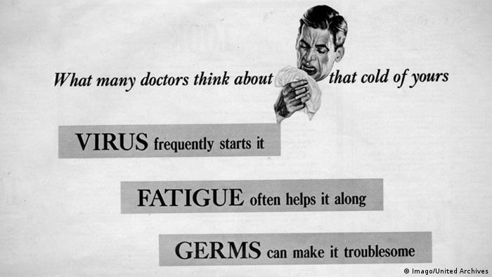 Listerine Werbung Anti Erkältungsmittel (Imago/United Archives)