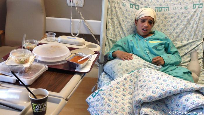 Ahmed Manasra in a hospital bed