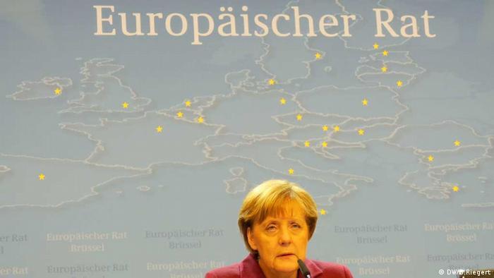 Angela Merkel nach EU-Gipfel in Brüssel