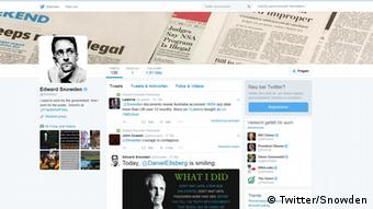 Screenshot Edward Snowden Twitter