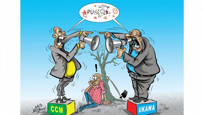 Karikatur Hate Speech bei den Wahlen in Tansania Said Michael