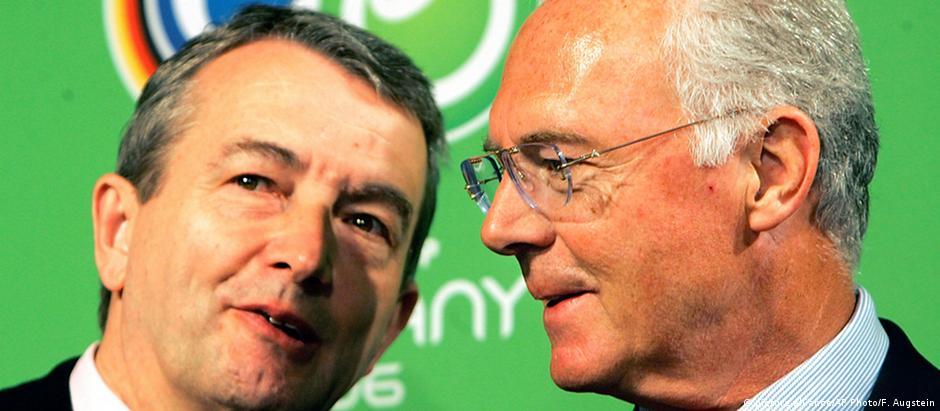 Wolfgang Niersbach (esq.) e Franz Beckenbauer em 2006
