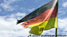 Флаг ФРГ с порванными краями