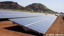 Solarkollektoren in Cidade da Praia, Kap Verde.