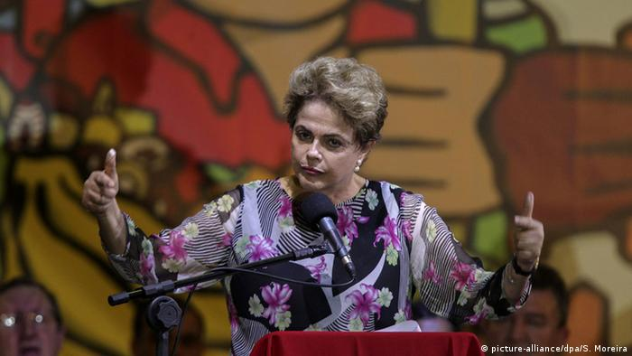 Rousseff's approval ratings have sunk to around 10 percent following the corruption scandal and accusations she manipulated public accounts