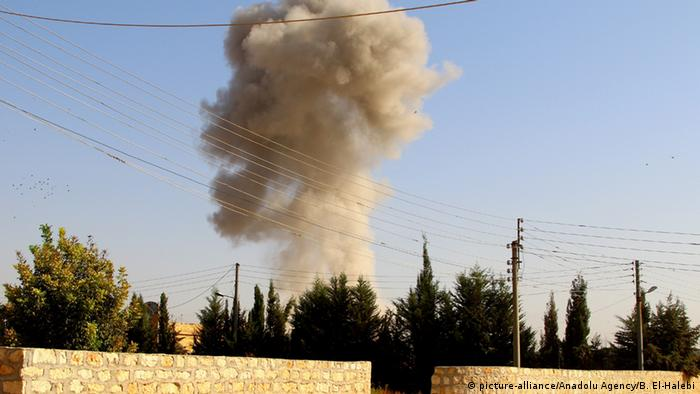 Russian jets bomb terrorist targets in the Aleppo province