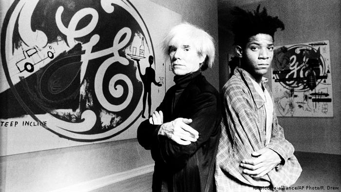 Andy Warhol and Jean-Michel Basquiat (picture-alliance/AP Photo/R. Drew)