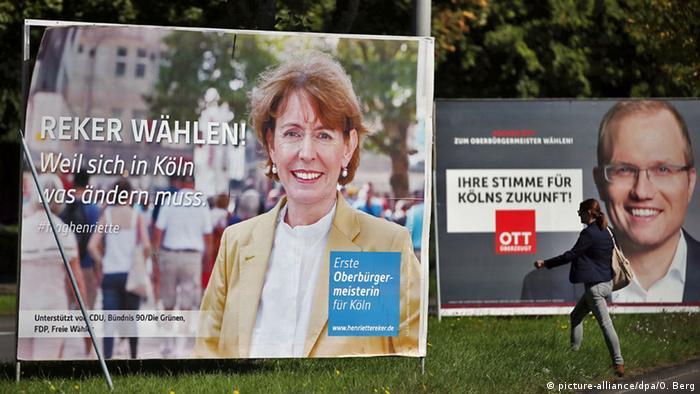 Köln Wahlkampf Wahlplakate Reker Ott