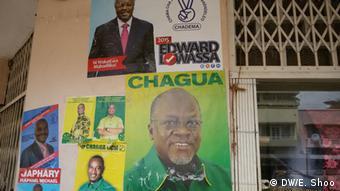 Mabango yanayowanadi wagombea wakuu wa kiti cha urais nchini Tanzania.