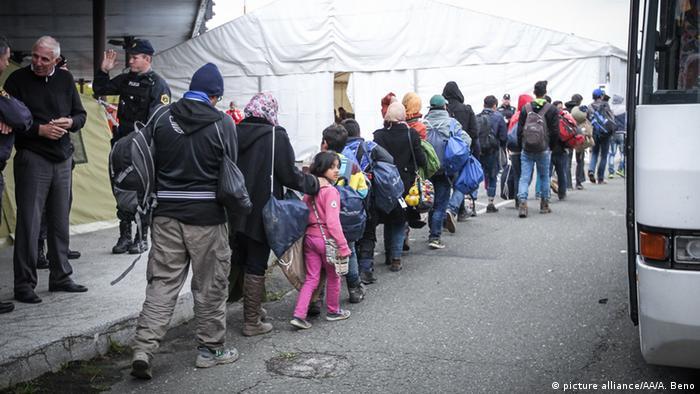 Flüchtlinge Grenze Slovenien